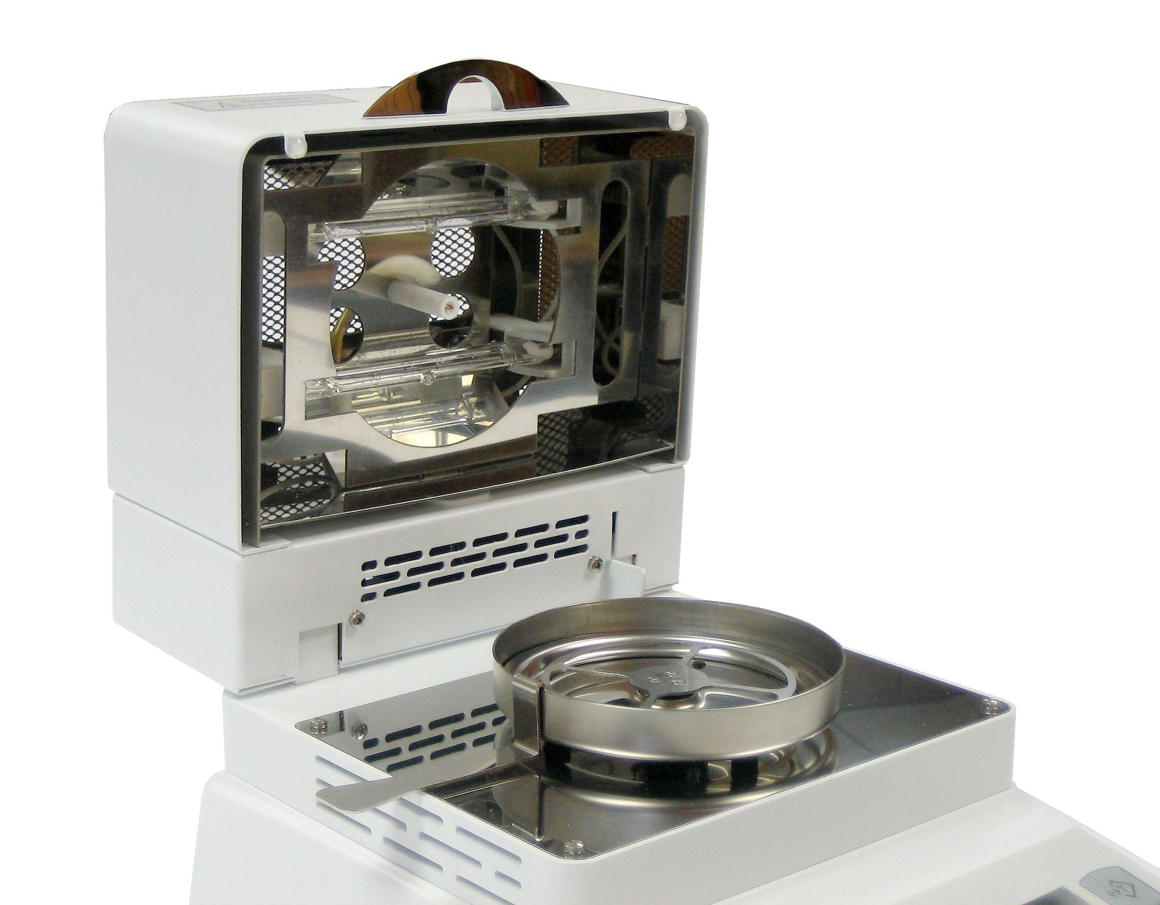Torbal AGS60 Moisture Analyzer 250C - 0.01% Readability, 250W, 60g x 0.001g, Backlit Graphical LCD Display, USB, Heavy Duty Die-cast Metal Design