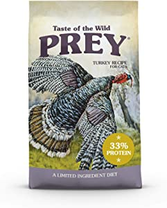 Taste of the Wild PREY Real Meat High Protein Limited Ingredient Dry Cat Food Grain-Free Recipe Made with Premium Real Ingredients That Provide High Amounts of Protein, Antioxidants and Probiotics