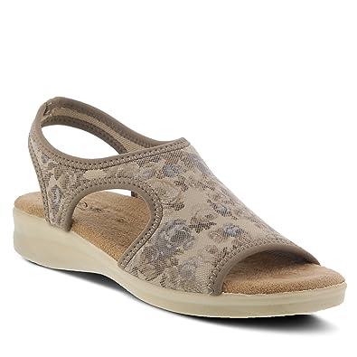 5722bf24f7c4 Amazon.com  Spring Step Flexus Women s Nyaman Lycra Slingback Sandal ...
