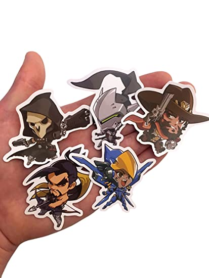 Overwatch custom print die cut bumper vinyl stickers pack of all 25 characters cute