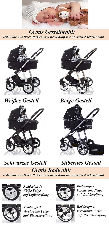all inclusive Paket in Farbe CS-007 Mega-Ausstattung Autokindersitz 16 teiliges Qualit/äts-Kinderwagenset 3 in 1CITY STAR in 41 Farben: Kinderwagen Buggy Schwenkr/äder BROWN-CREME