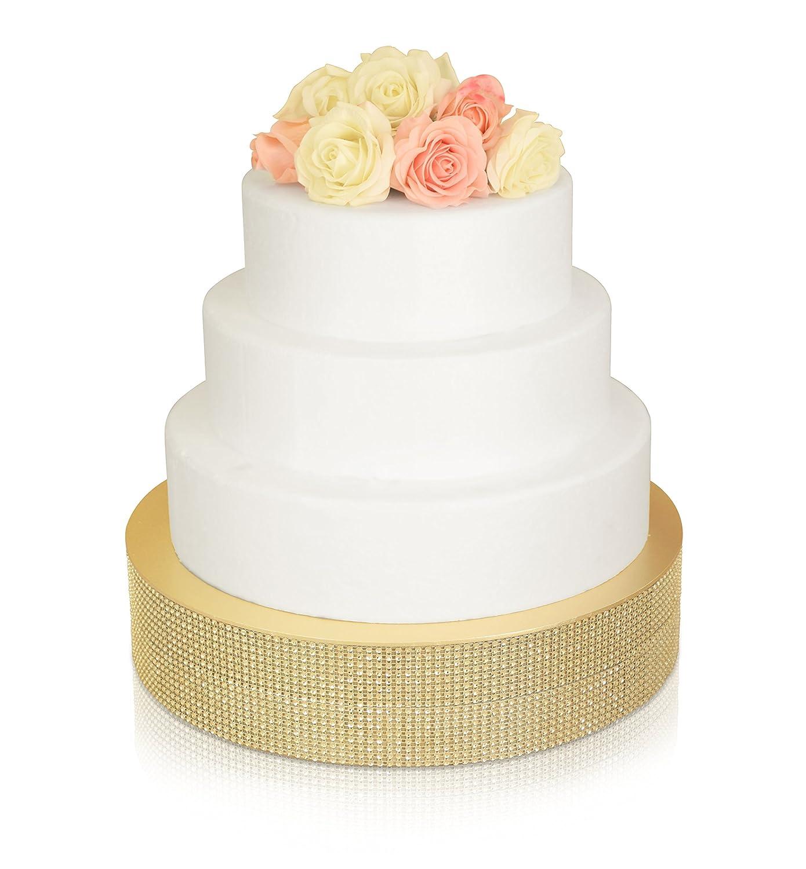 Amazon Bling Wedding Cake Stand Drum 14 Round Soft Gold