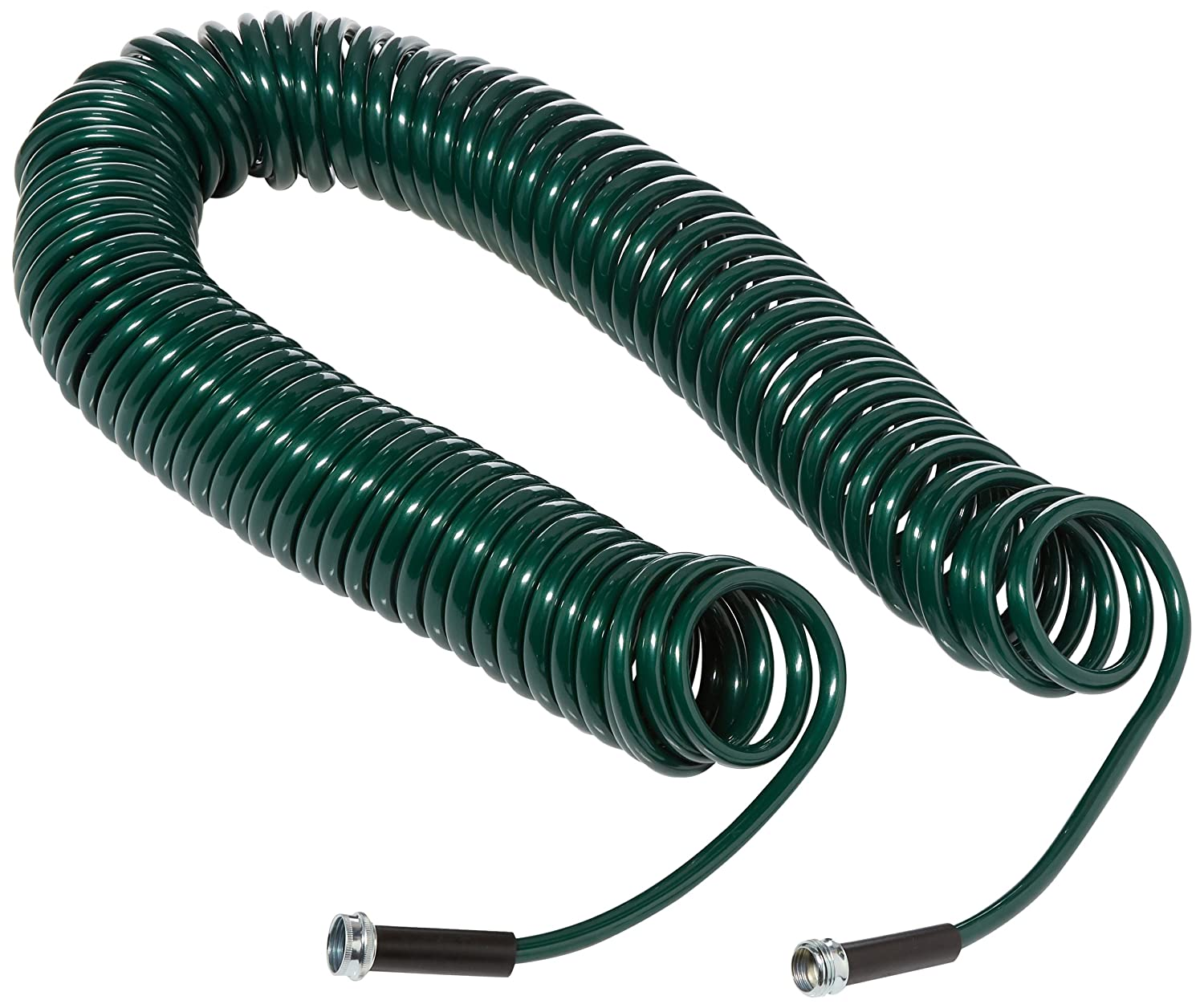 Plastair SpringHose PUW675B94H-AMZ Light Polyurethane Lead Free Drinking Water Safe Recoil Garden Hose, Green, 3/8-Inch by 75-Foot