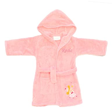 Dotty Frog Personalised Kids Dressing Gown For 3 4yrs Dressing