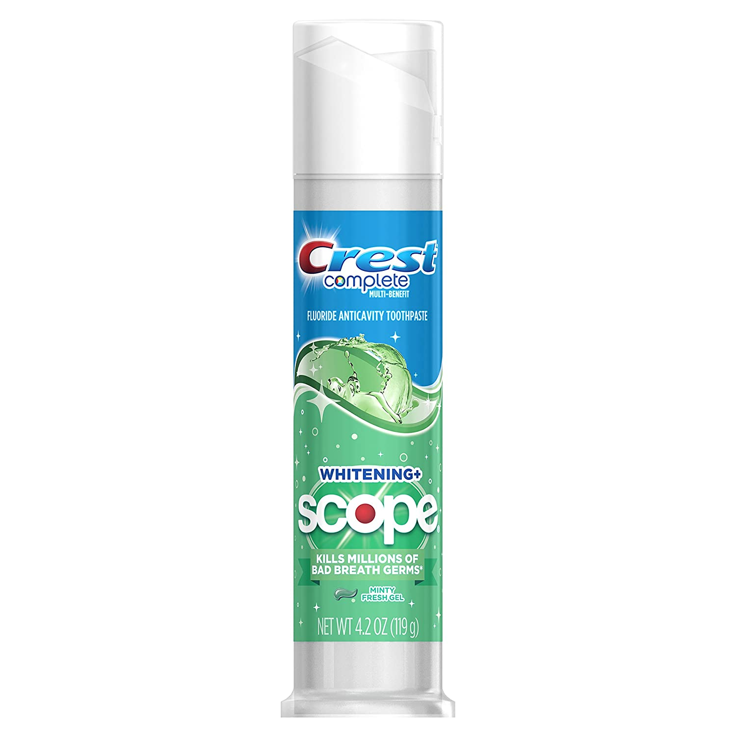 Crest Complete Whitening + Scope Multi-Benefit Minty Fresh Striped Toothpaste, 4.2 oz