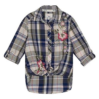 363a2f8ed Mantaray Kids Girls  Khaki Floral Embroidered Shirt  Mantaray ...