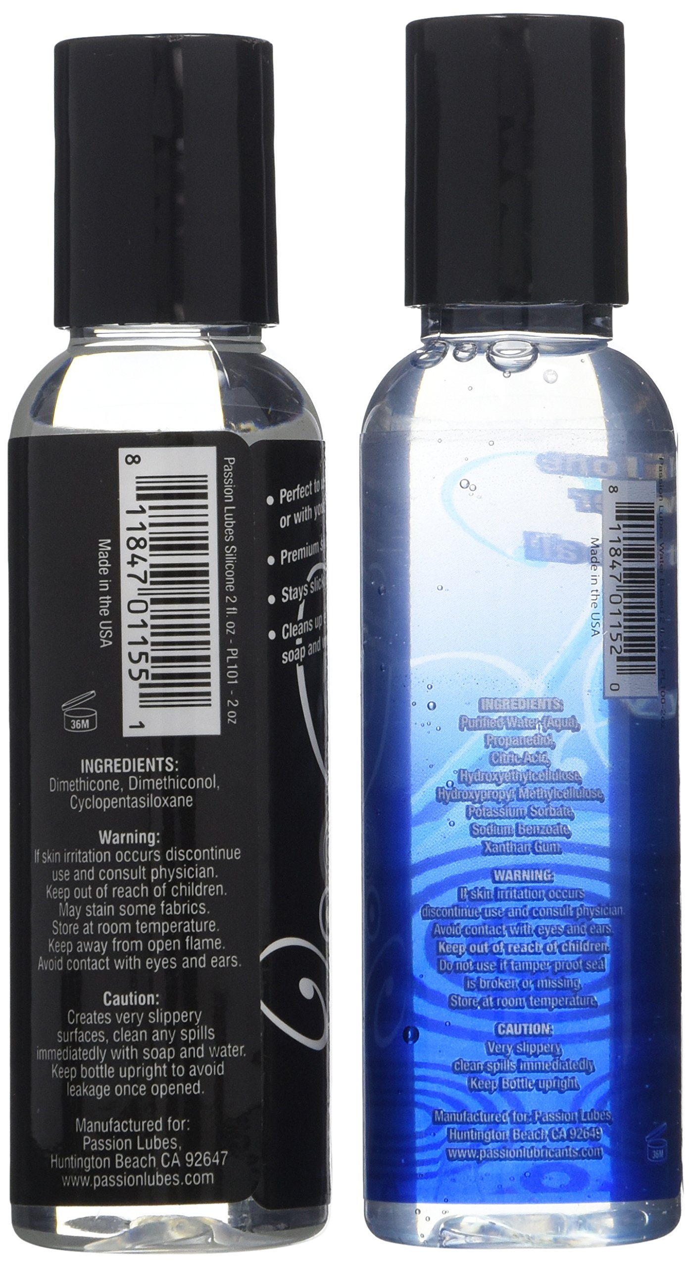 Passion Lubes The Silicone and Water-based Lube Travel Set, 2 Ounce, 2 Count by Passion Lubes (Image #2)