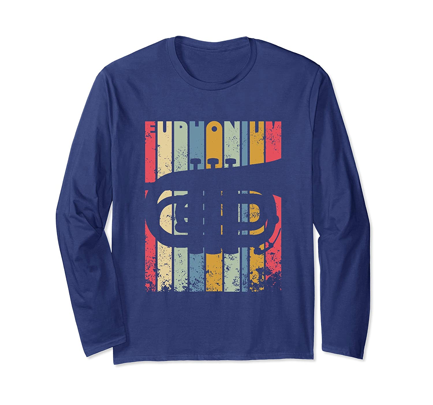 Distressed Vintage Euphonium Long Sleeve T-Shirt-mt