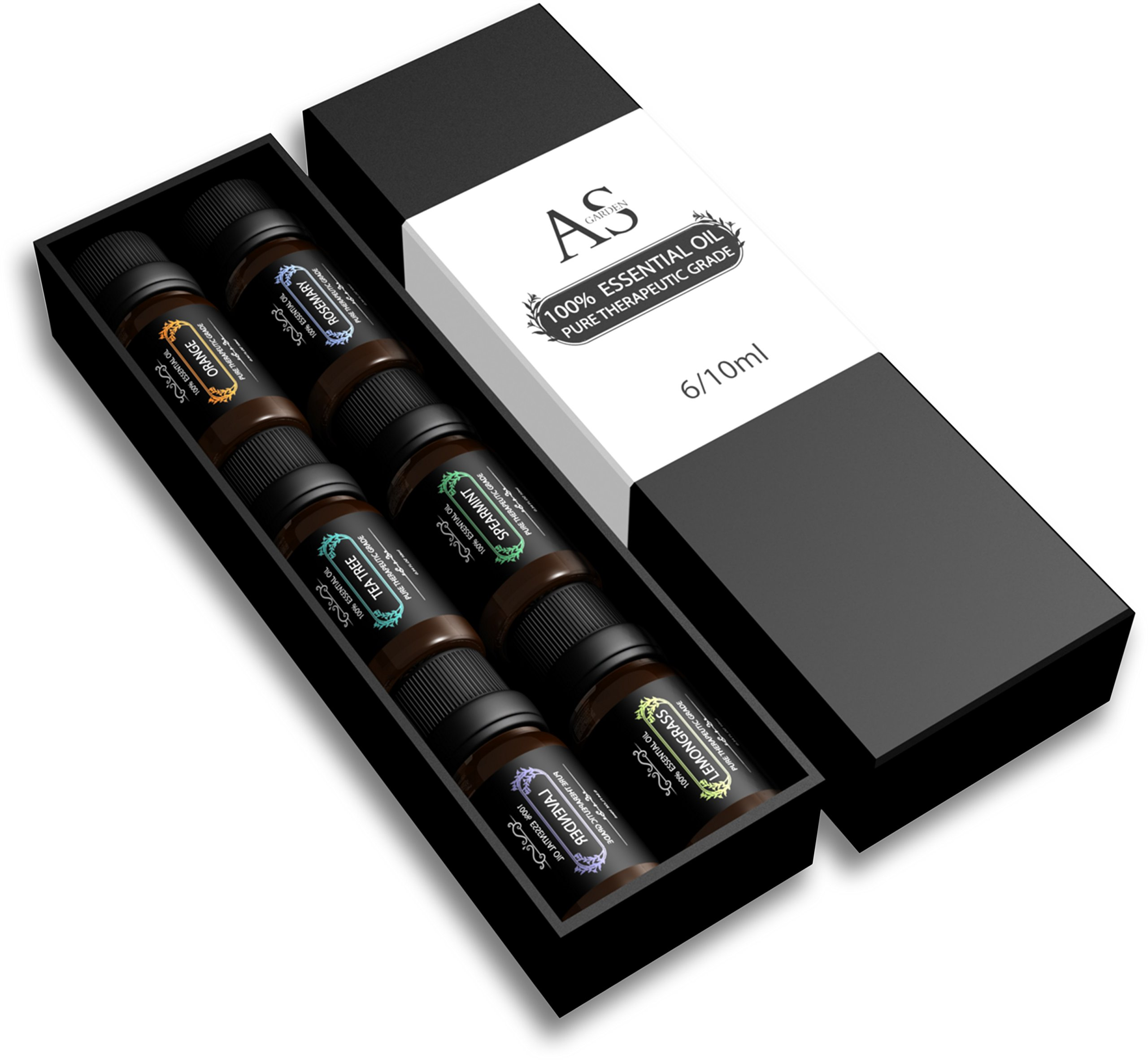 Essential Oils Gift Set Top 6 - 100% Pure & Therapeutic Grade 10ml