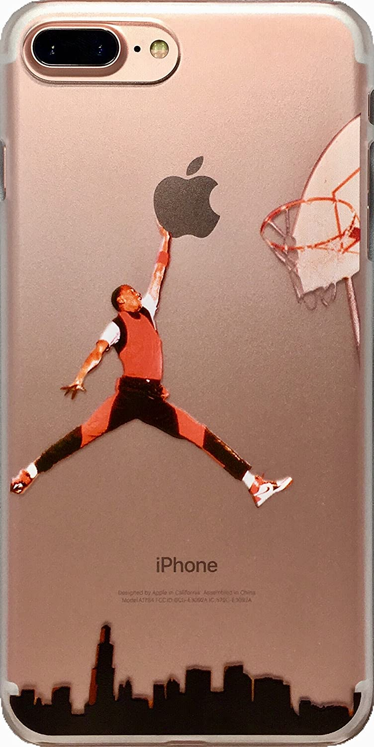 Soft TPU Basketball Case with Your Favorite Past and Present Players (Jordan City Dunk, iPhone 7 Plus)