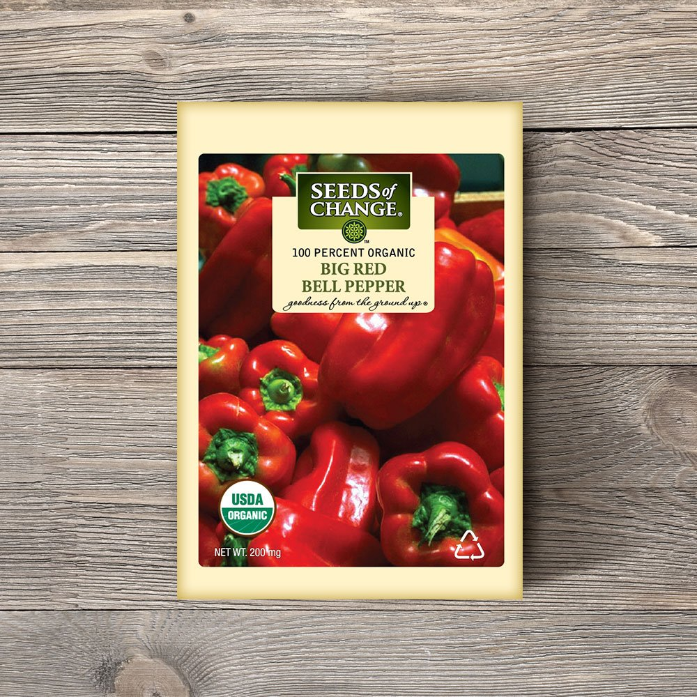 Amazon.com : Seeds Of Change 06994 Certified Organic Sweet Big Red Pepper : Garden & Outdoor