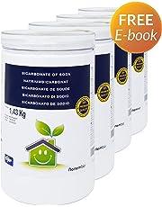 NortemBio Bicarbonate de Soude 1,43 Kg, Intrant de la Production Biologique, Qualité Supérieure, 100% Naturel. Développé en France.
