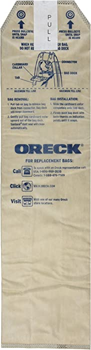 Oreck Genuine Odor Fighting HEPA Vacuum Cleaner Bags for Magnesium Upright, Pack of 3, LWPK3OH
