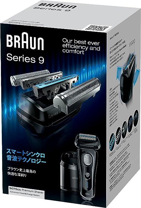Braun Series 9 9075 CC Electric Shaver de aluminio con limpiar y ...