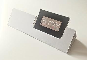Visitenkartenhalter Aus Karton Weiß Raum Logo 10