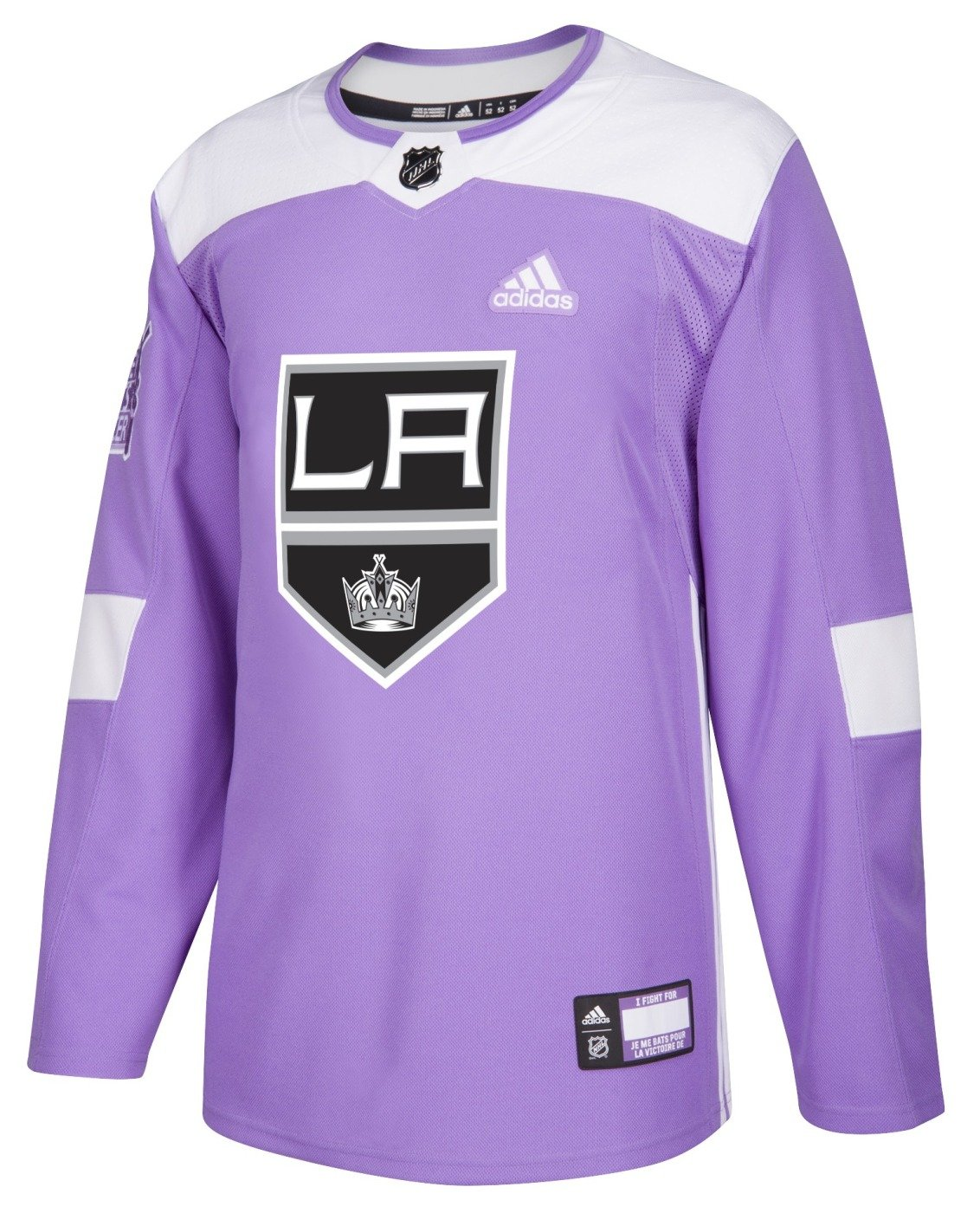 e7ce2c857 Amazon.com : adidas Los Angeles Kings NHL Hockey Fights Cancer Mens  Authentic Practice Jersey : Sports & Outdoors