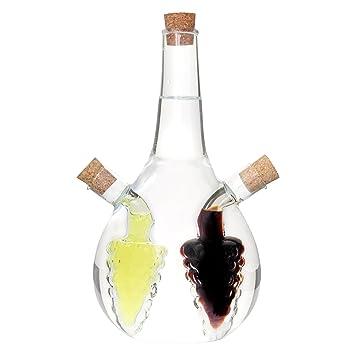 öl Essig Spender lantelme 5771 öl und essigspender glas mit 3 kammern amazon de