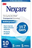 Nexcare Tegaderm Waterproof Transparent Dressing, Provides protection to minor burns, cuts, blisters and abrasions, 10…
