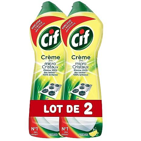 afcc1d4911265 CIF Crème À Récurer Nettoyant Multi Surfaces Citron 750ml (Lot de 2 ...