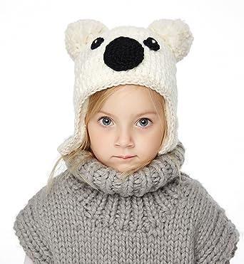 555d3436efa Sumolux Little Girls Boys Winter Hat Warm Ears Flap Beanies Plush Lined Knitted  Cap