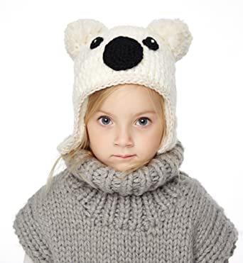 ec0d7962ca8 Sumolux Little Girls Boys Winter Hat Warm Ears Flap Beanies Plush Lined  Knitted Cap
