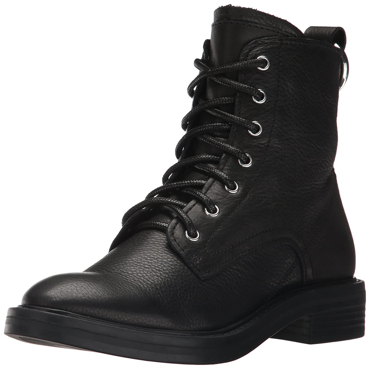 Dolce Vita Women's Bardot Combat Boot B072JVLDL4 6.5 B(M) US|Black Leather