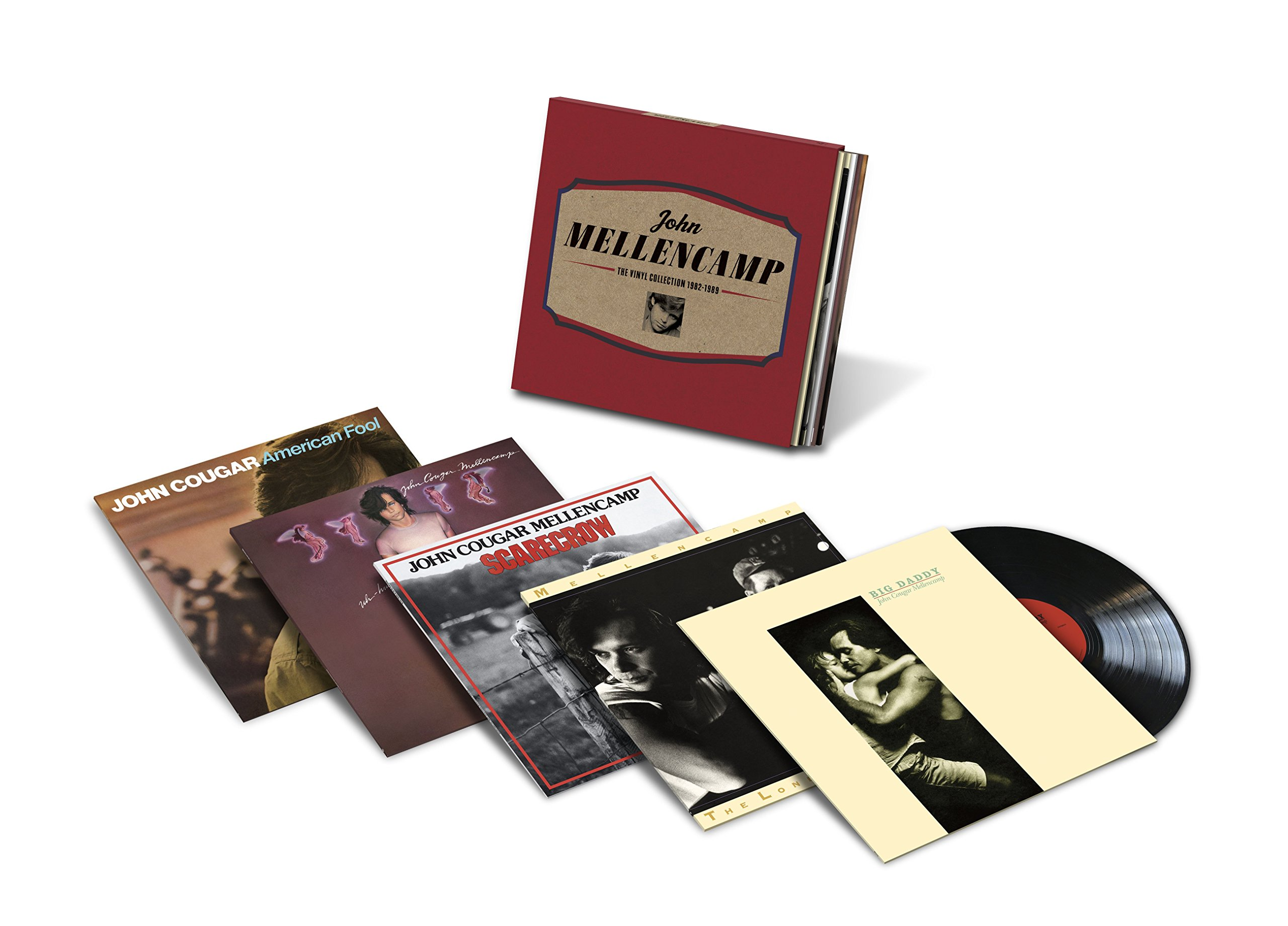 Vinilo : John Mellencamp - The Vinyl Collection 1982-1989 (Boxed Set, Oversize Item Split, 5 Disc)