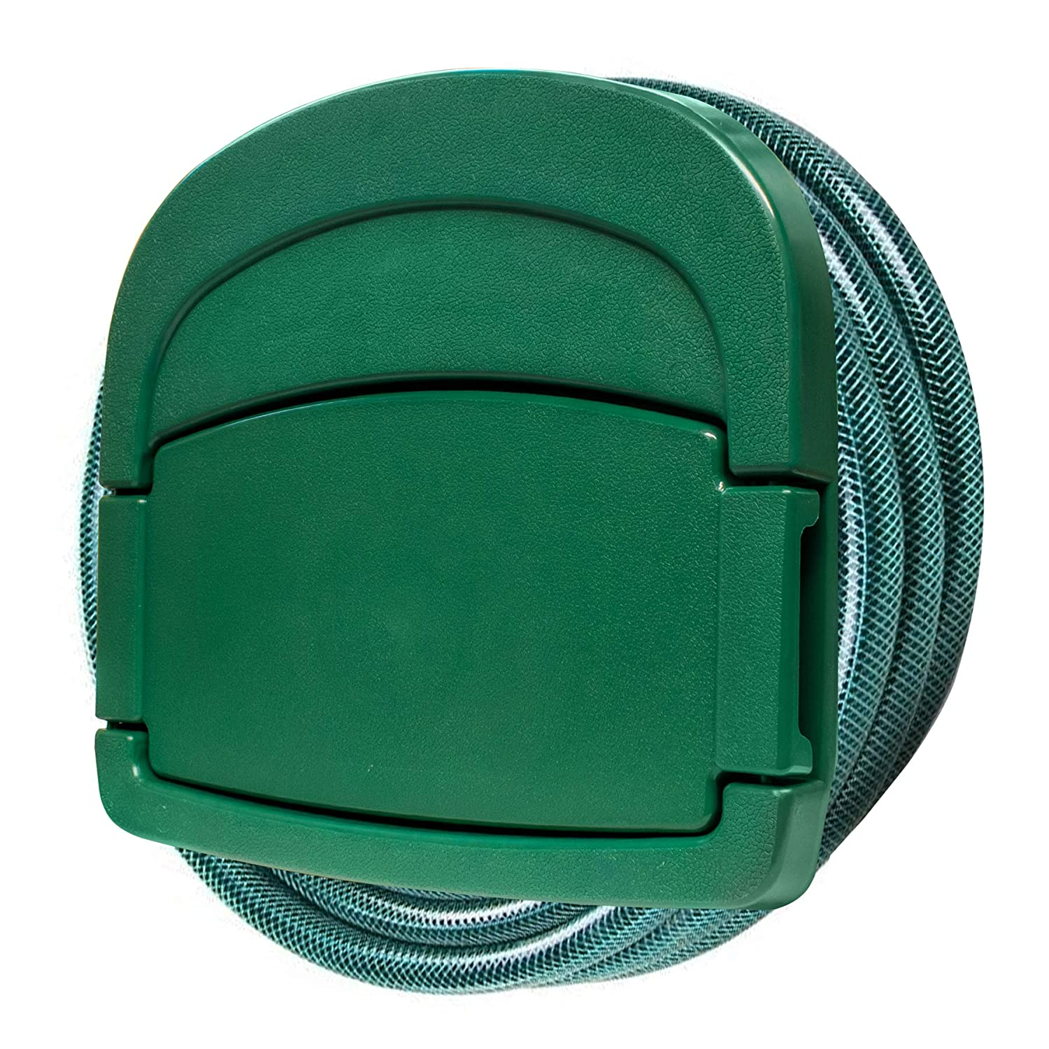 KCT Garden Hose Hanger with Storage Compartment - Stores up to 45 Metres of Hose