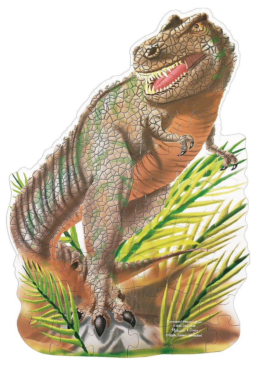Melissa & Doug T-Rex Dinosaur Jumbo Jigsaw Floor Puzzle (48 pcs, 2 x 3 feet)