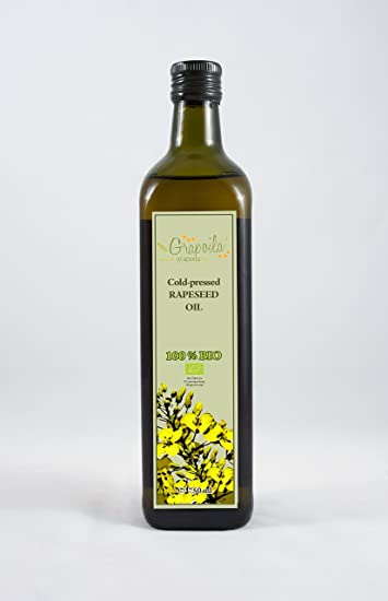 Grapoila aceite de bio-colza prensado en frío (750 ml)