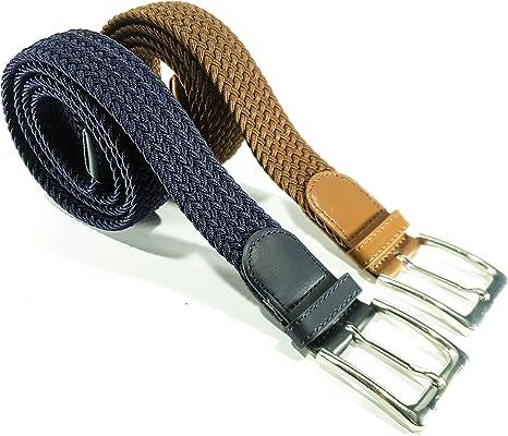 Cinturón trenzado elástico y extensible 2 piezas cinturones con ...