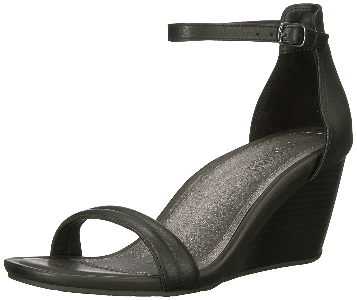Kenneth Cole REACTION Women's Padded Cake Icing Open Toe Padded Women's Straps Wedge Sandal B06W9LQ9QB 8 B(M) US|Black ff1f81
