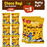 Slurrp Farm Mighty Puff - Choco Ragi with zero transfat (Pack of 8)