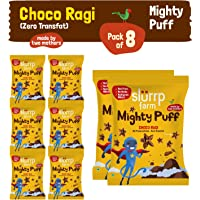 Slurrp Farm Tasty Mighty Puff | Choco Ragi | Healthy Snack for Kids with (Pack of 8)