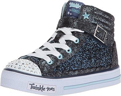 bordillo total judío  Amazon.com | Skechers Unisex-Child Shuffles-Glitter Girly Sneaker | Sneakers