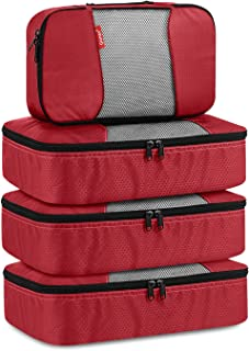 Gonex Packing Cubes Travel Organizer Cubes for Luggage 4 Slim Tangerine