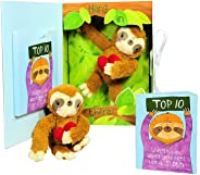 Get Well Gifts - Feel Like a Sloth? Hang in There! Get Well Soon Gift for Women, Kids, Men, Teens. Plush Sloth and Top 10 Thi