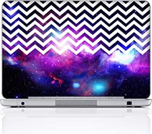 Meffort Inc 15 15.6 Inch Laptop Notebook Skin Sticker Cover Art Decal (Included 2 Wrist pad) - Chevron Pattern Galaxy