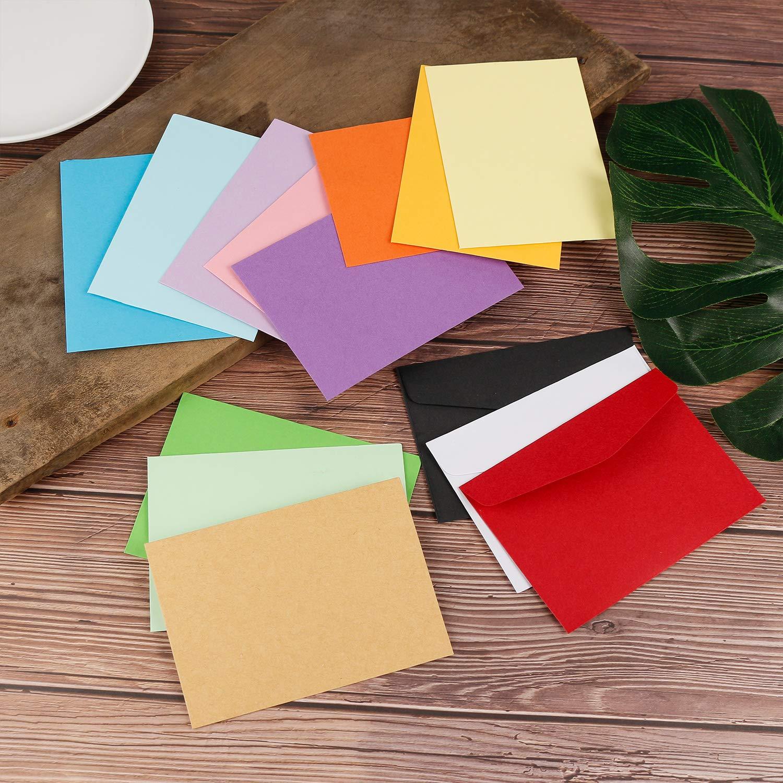 Gydandir 140 Piezas 11.7 x 8.2 Cm Mini sobres de Navidad Sobres encantadores lindos del color Sobres de la acción de gracias con 3 pedazos de la etiqueta ...