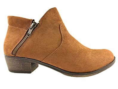 f790abedf7b American Rag Ladies Fashion Faux Suede Cowboy Ankle Boots Side Zip Size  6-10 New