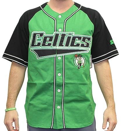 d031043cb8cd Boston Celtics Starter NBA Men s  quot Double Play quot  Baseball Jersey