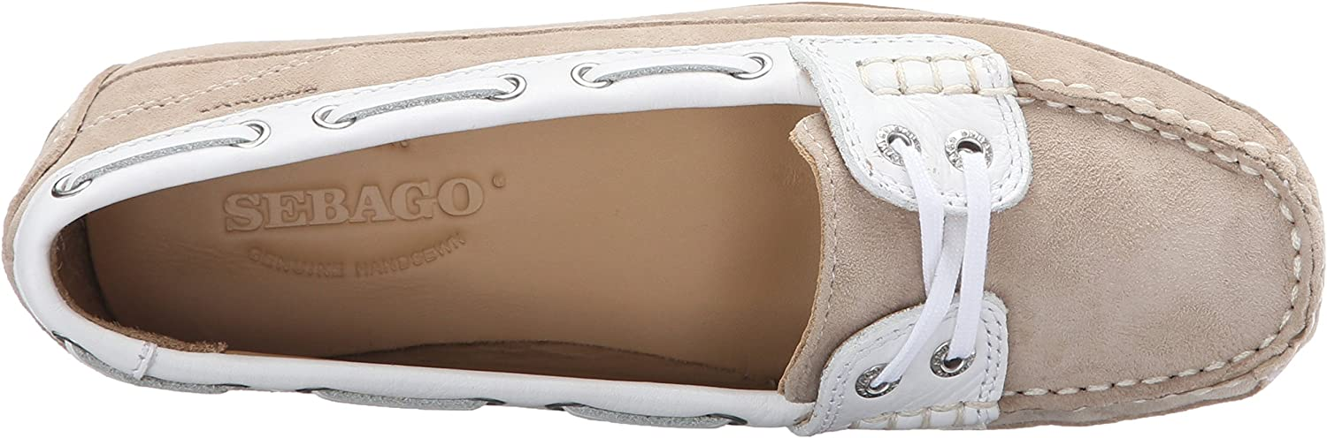 Sebago Bala Women/'s Deck Boat Shoe Taupe Suede//White B61061CL NEW