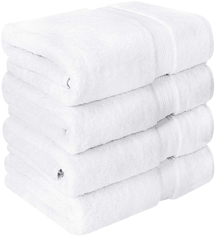 Utopia Towels Luxurious Bath Towels, 4 Pack, White