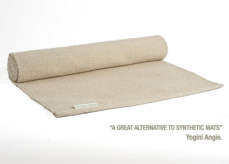 "Yogasana Yoga Mat by Thick Yoga Mats Hot Yoga 100% Cotton Rug 24"" x 72"" 7 Colors"