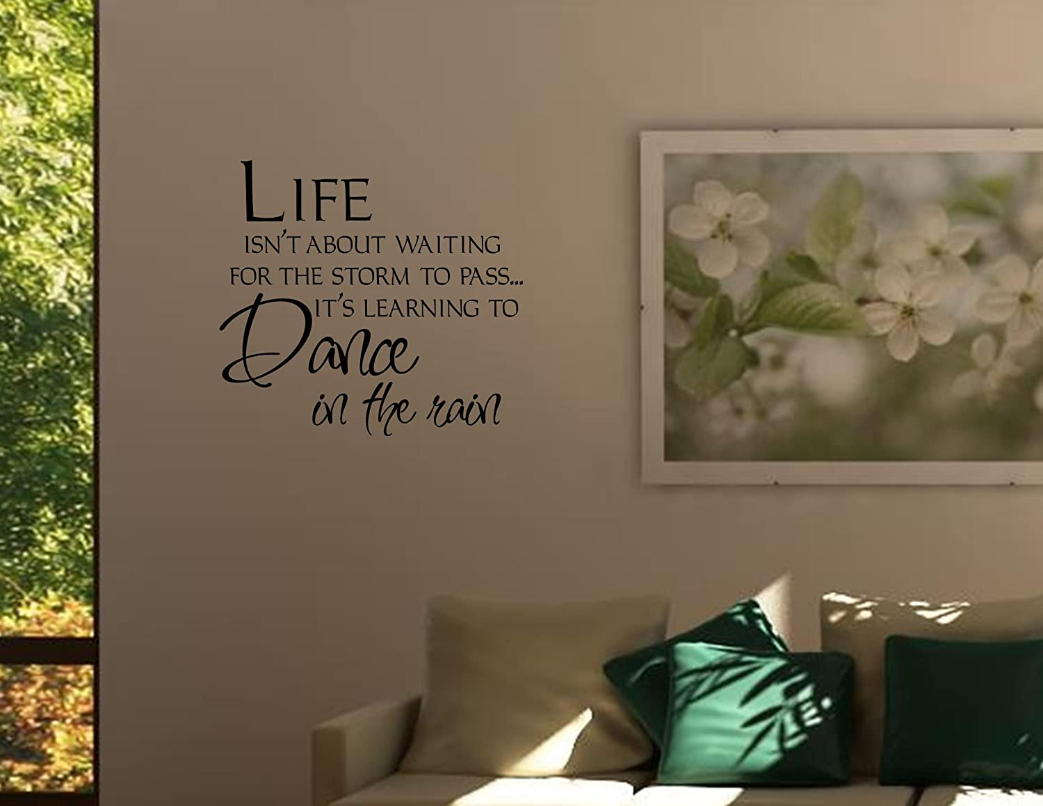 Life isnt about waiting for the storm to pass its learning to life isnt about waiting for the storm to pass its learning to dance in the wall decor stickers amazon amipublicfo Gallery