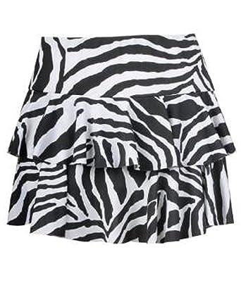 Fashion charming-Womens Animal Cebra Leopardo Mini RARA Falda ...