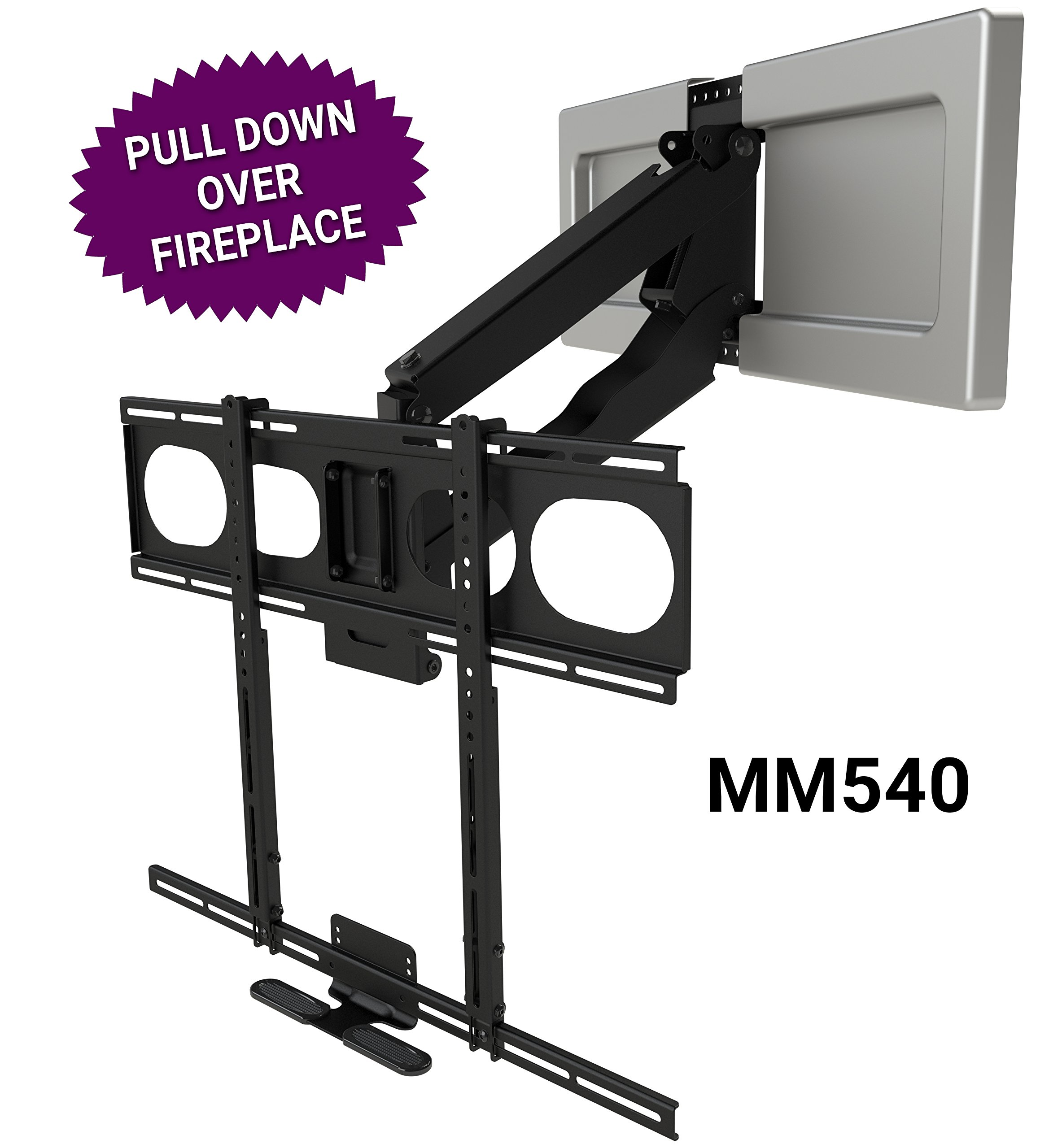 MantelMount MM540 - Above Fireplace Pull Down TV Mount by MantelMount