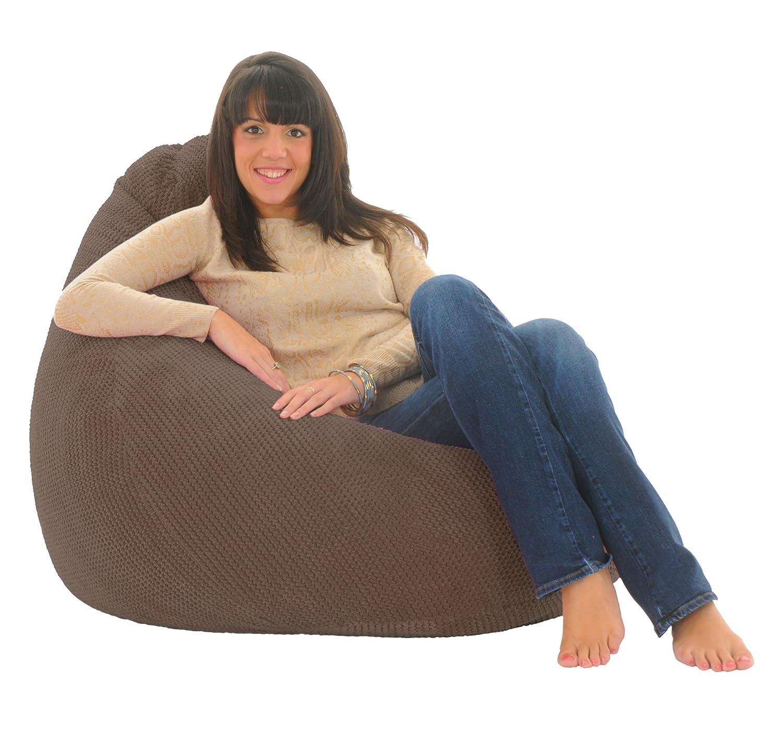ADULT HIGHBACK - Soft & Snugly Designer Chair Bean Bag Gaming Beanbag Seat lounger Ocean (Black) Gilda Ltd