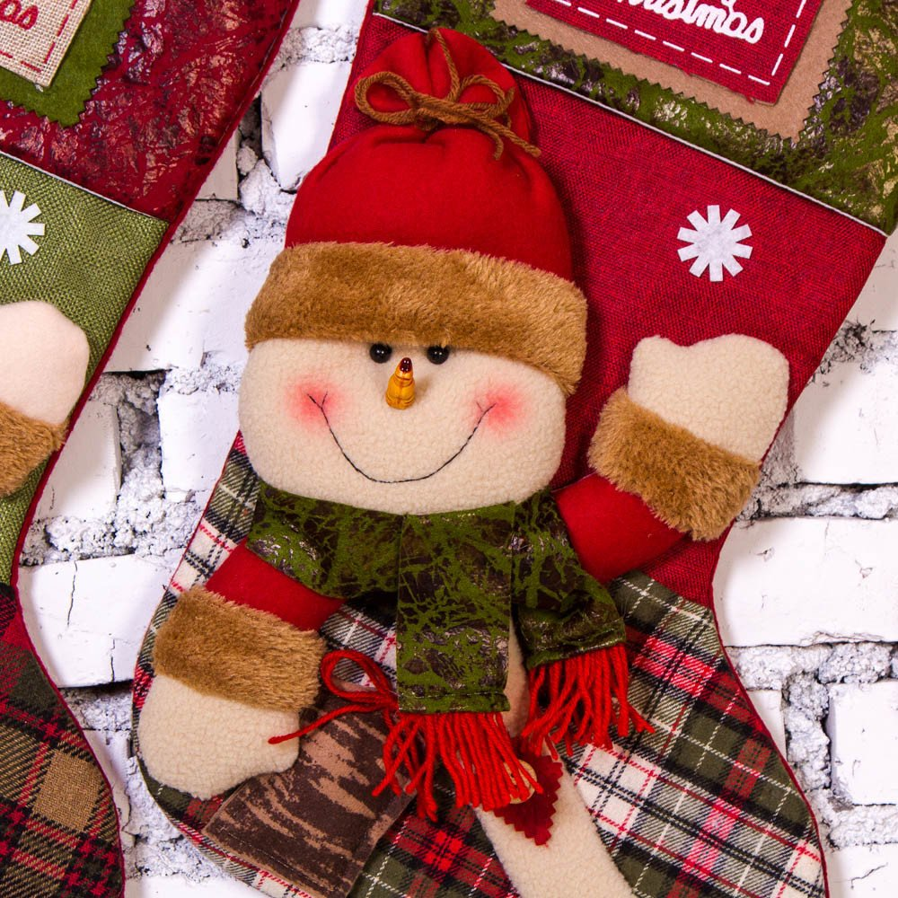 SMTSMT/_socks Christmas Sock Gift Bag Xmas Plush Tree Hanging Gift Candy Large Socks Decoration