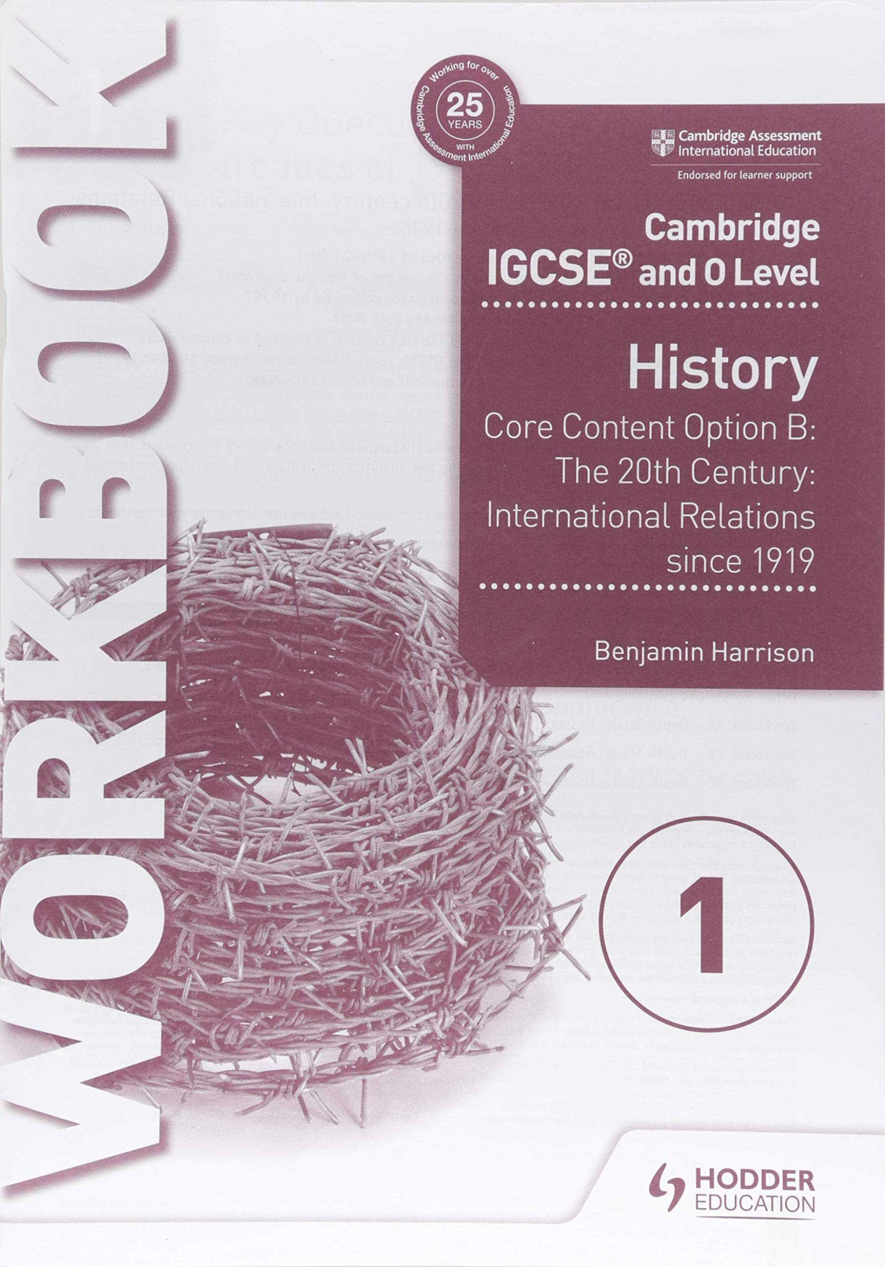 Cambridge IGCSE And O Level History Workbook 1   Core Content Option B  The 20th Century  International Relations Since 1919  Cambridge Igcse And O Level